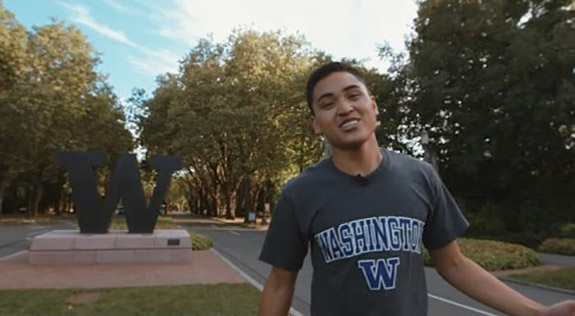 Joe shows you around campus