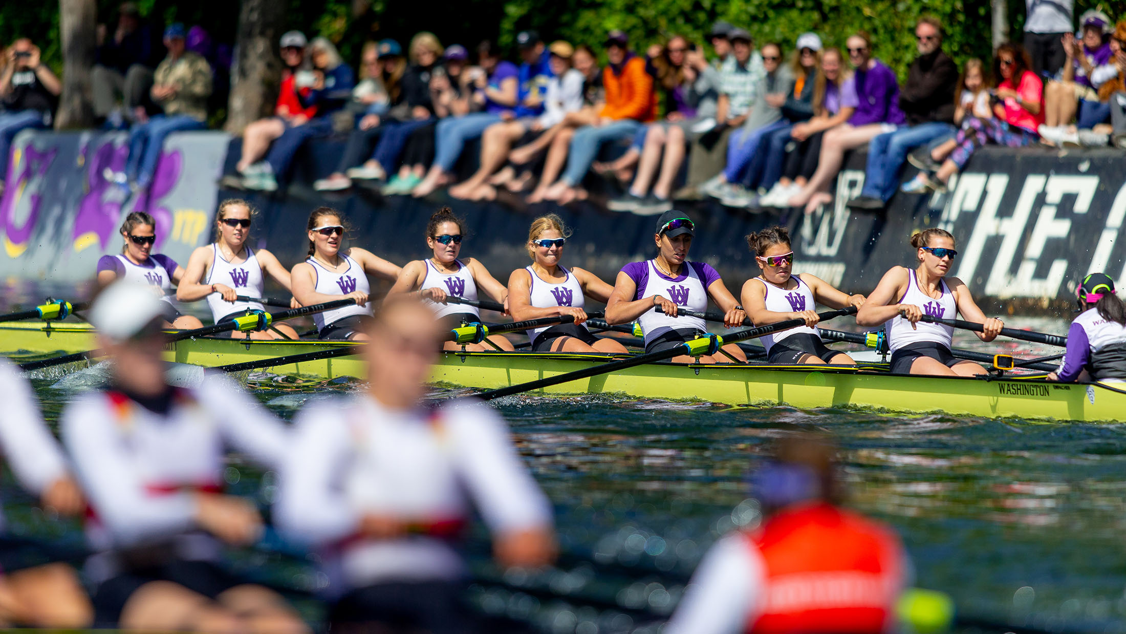 """CLASS DAY REGATTA, Students line """"The Cut"""" to take part in one of our oldest traditions."""