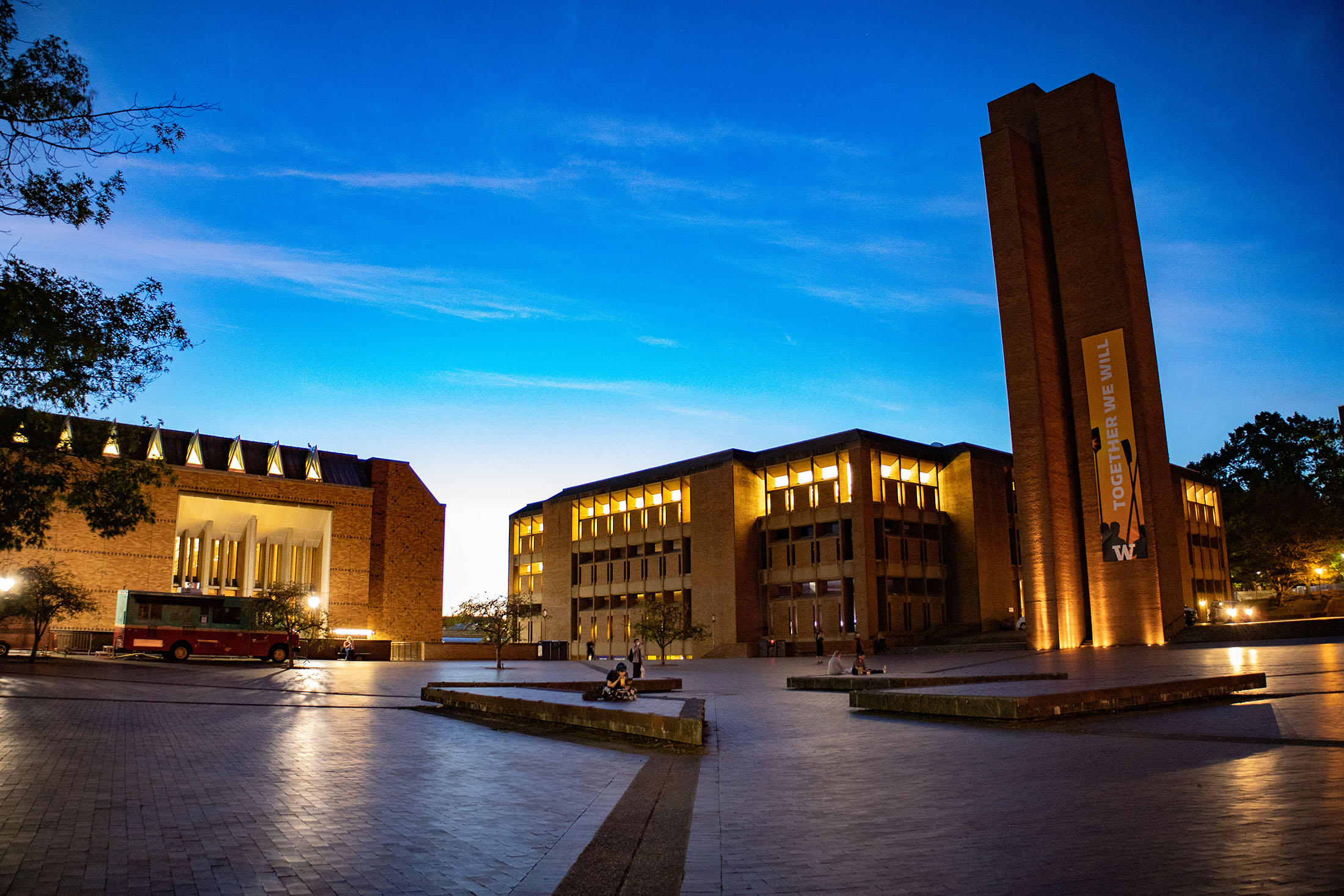 RED SQUARE, The epicenter of campus life, Red Square takes its name from the reddish-brown bricks that compose it.