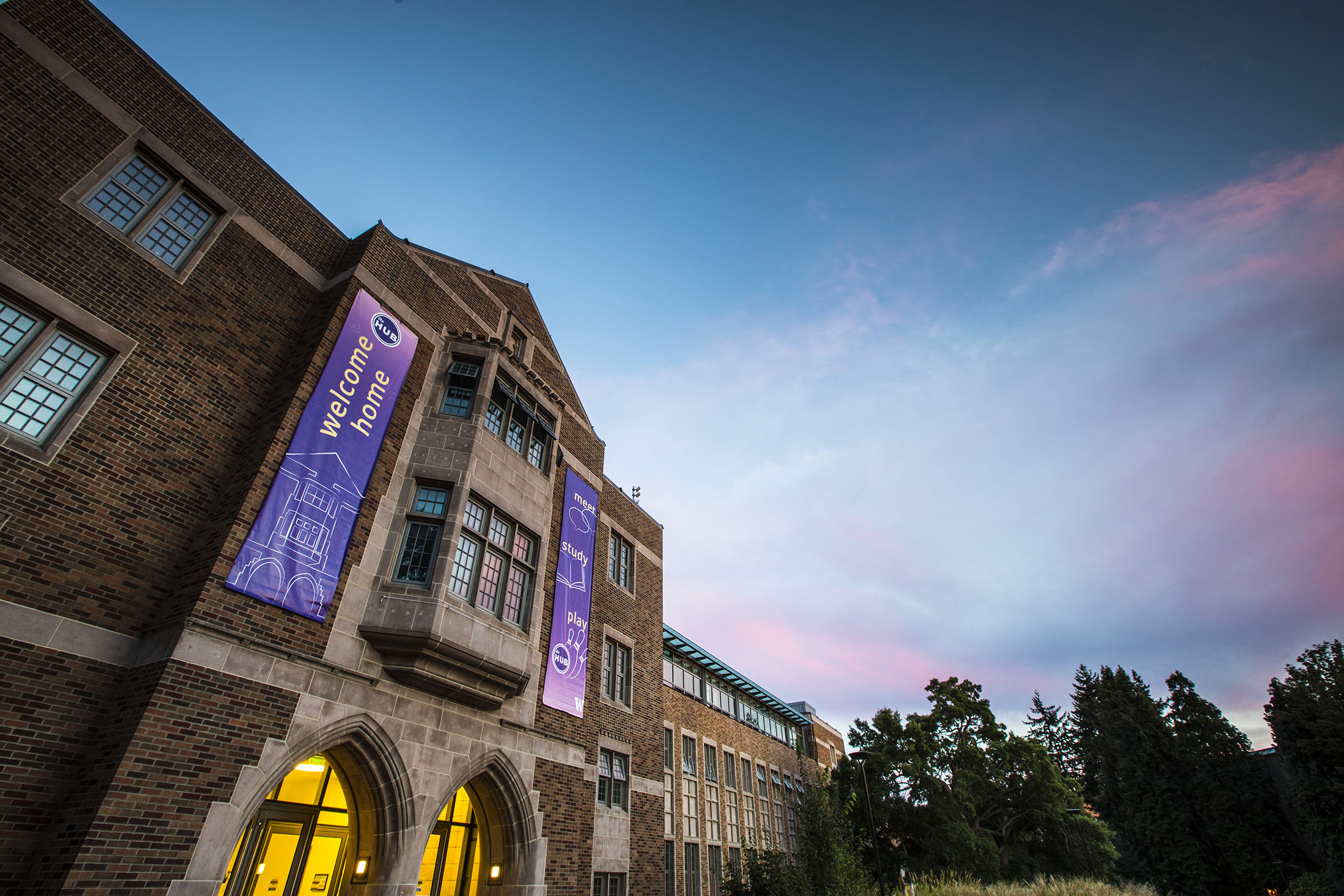 THE HUB, The Husky Union Building is a bustling center of student activities, games, student services, food and much more.