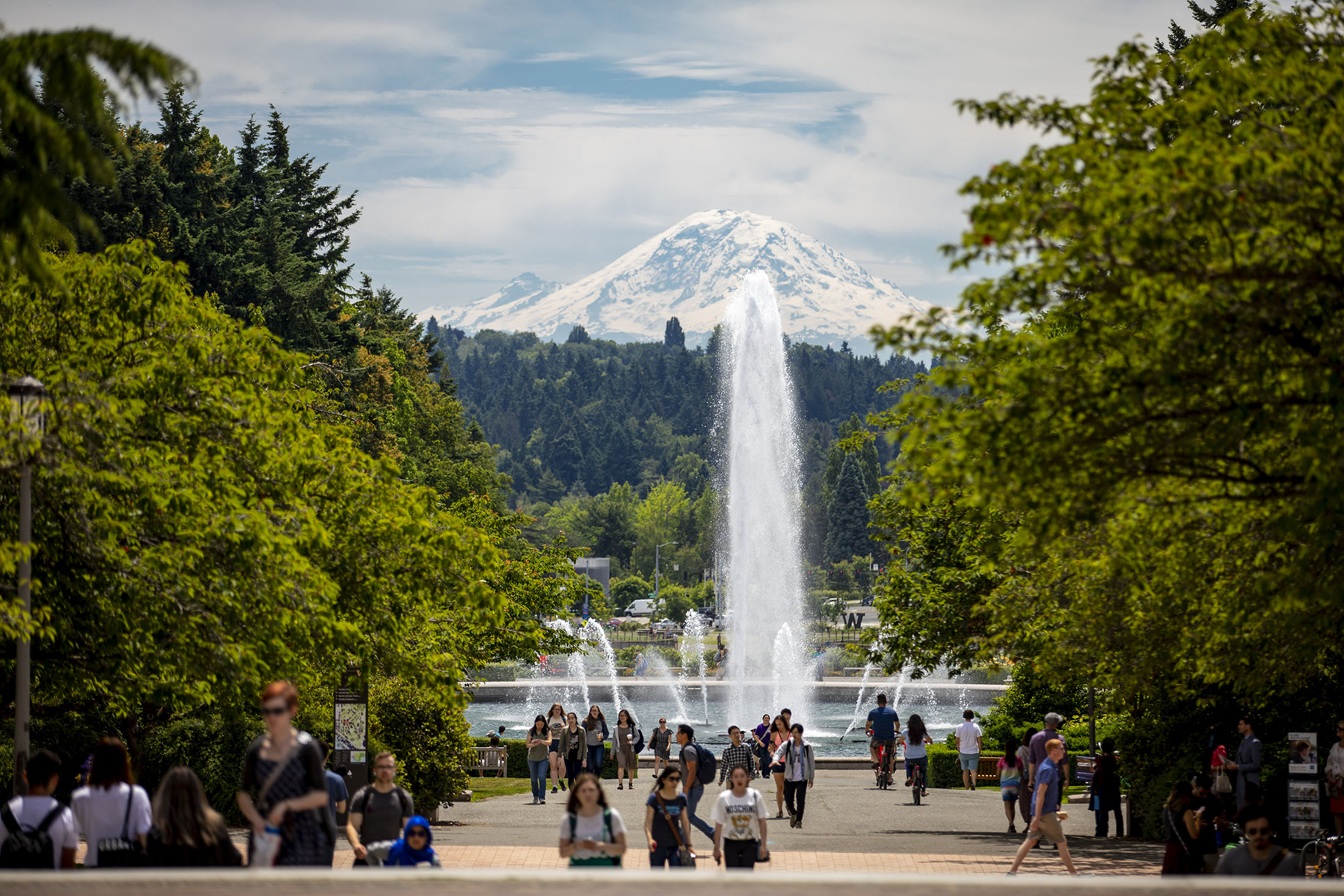 """RAINIER VISTA, The view of """"The Fountain and The Mountain"""" from Rainier Vista is unmatched for its grandeur and beauty."""